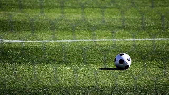 グラウンドとサッカーボール