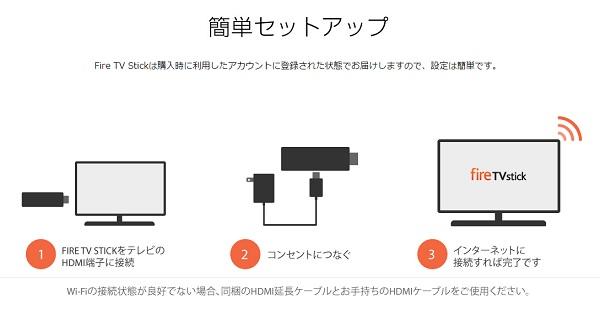 FireTVStick簡単セットアップ
