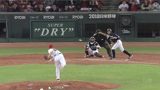 日米野球2018菊池スクイズ
