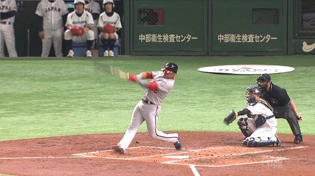 日米野球ソト天井直撃フライ