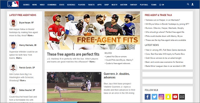 MLB.com-The Official Site of Major League Baseball-