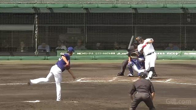2019練習試合中日戦大野から3ランHRを放つゲレーロ
