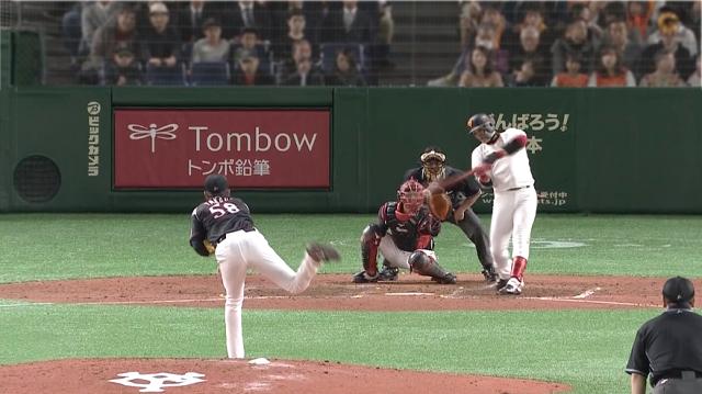 2019オープン戦vsロッテ陽さんホームラン1本目
