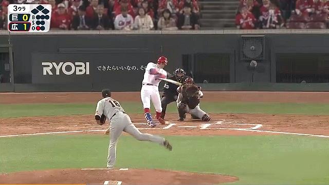 2019開幕戦広島vs巨人安部にホームランを打たれる菅野