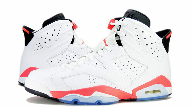 AIR JORDAN 6 RETRO WHITEINFRARED-BLACK