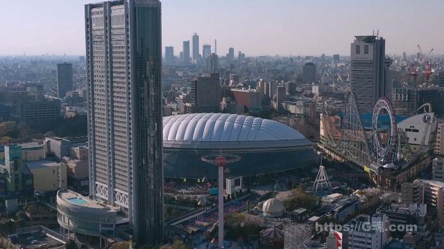 東京ドーム空から1