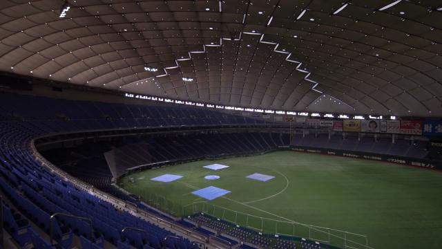 無人の東京ドーム