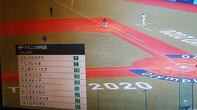 東京オリンピック野球競技日本対ドミニカ ドミニカスターティングメンバ―