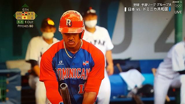 東京オリンピック野球競技日本対ドミニカフリオロドリゲス