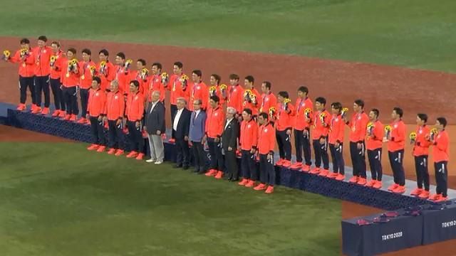 東京オリンピック 決勝戦 侍ジャパン アメリカに2-0で勝利し金メダル獲得