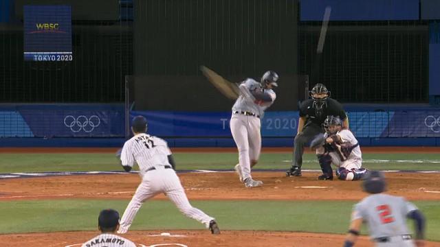 東京オリンピック野球競 日本対アメリカ カサス スリーラン