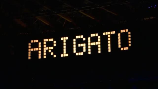 東京オリンピック閉会式ARIGATO