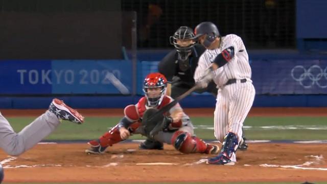東京オリンピック野球競 日本対アメリカ 甲斐ライトオーバーのサヨナラ打