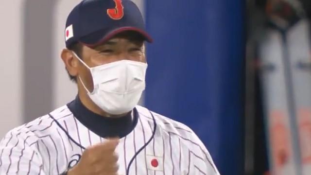 東京オリンピックノックアウトステージ第1戦日本対アメリカ 稲葉監督